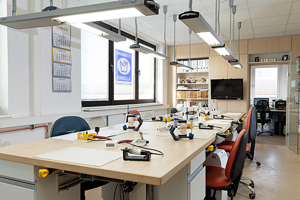 Das gemeinsame Arbeitszentrum im Labor